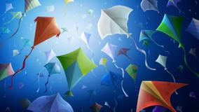 Colorful Kites In Sky